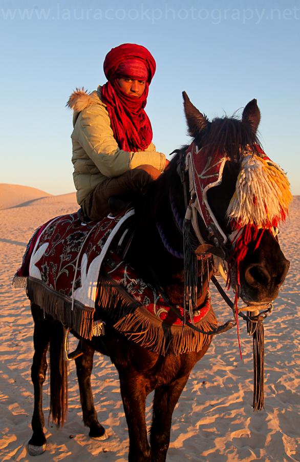 Desert dwellers are accomplished horsemen.