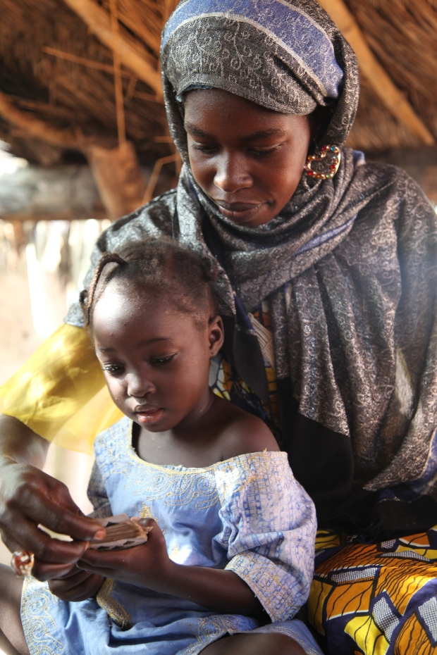 Mum and daughter in Mali, West Africa. Taken for the Iota Course.