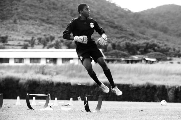 My photo diary for 2013 would not be complete without showing you a few images from the Craig Bellamy Foundation Academy in Sierra Leone. This is my new home and place of work. Here one of our talented goalkeepers trains on the pitch.