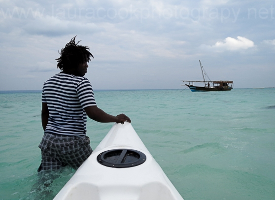 Getting to and from the boat in style in Mozambique.