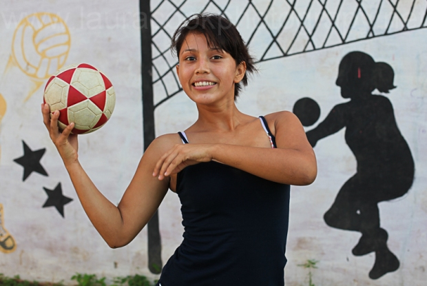 In 2014, with awesome charity Street Child World Cup and with The Methodist Church, I got to know inspirational young people like Alondra in Nicaragua. She was fierce, opinionated, confident and a total inspiration!