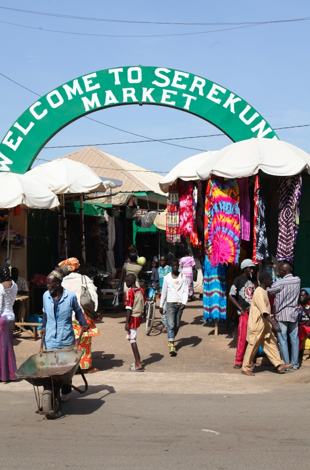 Serekunda Market in The Gambia is the biggest in the country and sells just about everything!