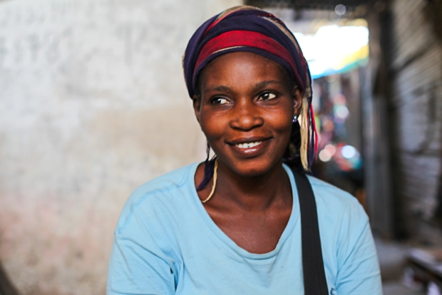 I never got the chance to chat to this woman in The Gambia but while I was taking photos of a market stall vendor she came and sat by me and readily posed for a portrait. She exuded confidence.
