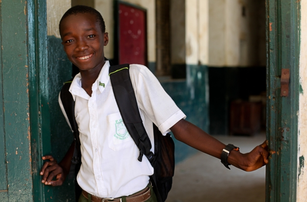 "Kallon is a keen football player in Freetown but also understands the value of education: ""Football is important to me. I love it. Education  is more important though as one day I want to be a business man and then I will need my education."""