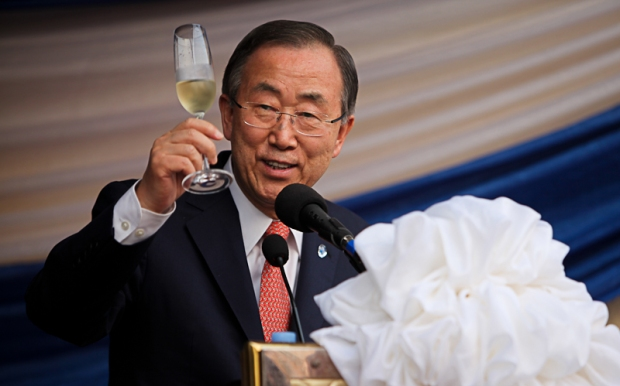 Ban Ki-Moon raises a toast to Sierra Leone - to its resilient people and to its progress since 2002.