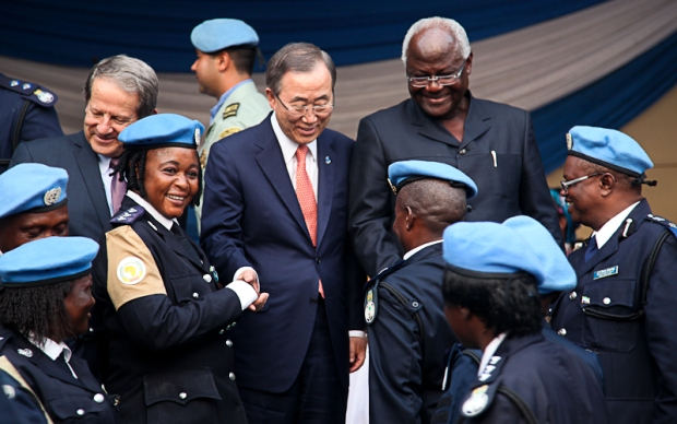 Visit of the UN Secretary General to Sierra Leone. 5th March 2014