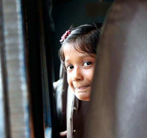 The 'shy smile' (Taken in Sri Lanka in 2010)