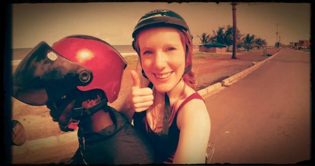 Shot with the GoPRO camera as I filmed the streets of Freetown! Two selfies in under a month. Not like me at all!