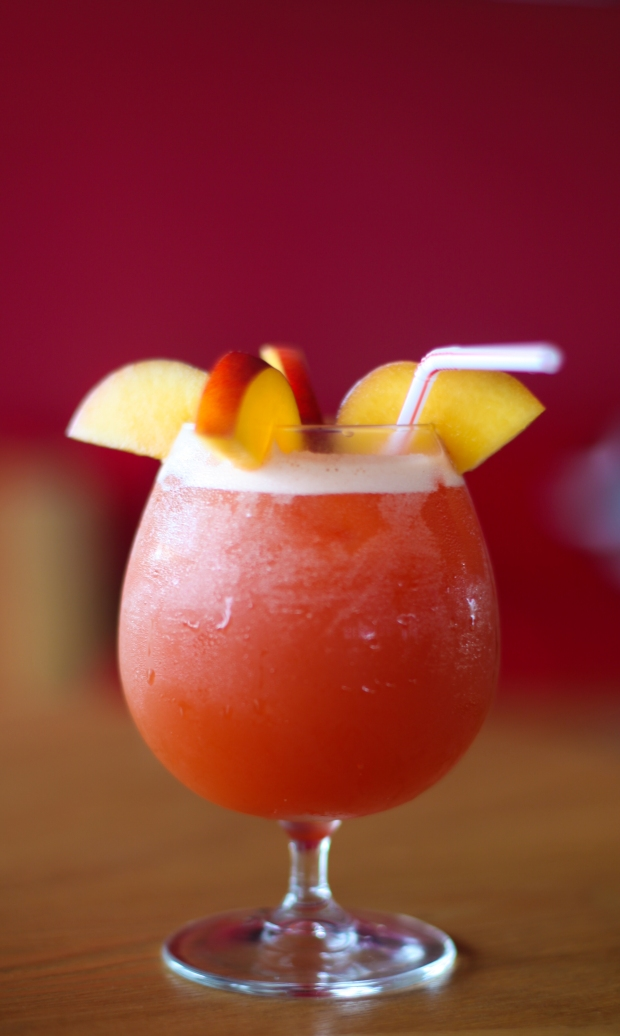 A Passion Split - an non-alcoholic cocktail designed to be sipped as the sun goes down..... another please barman!