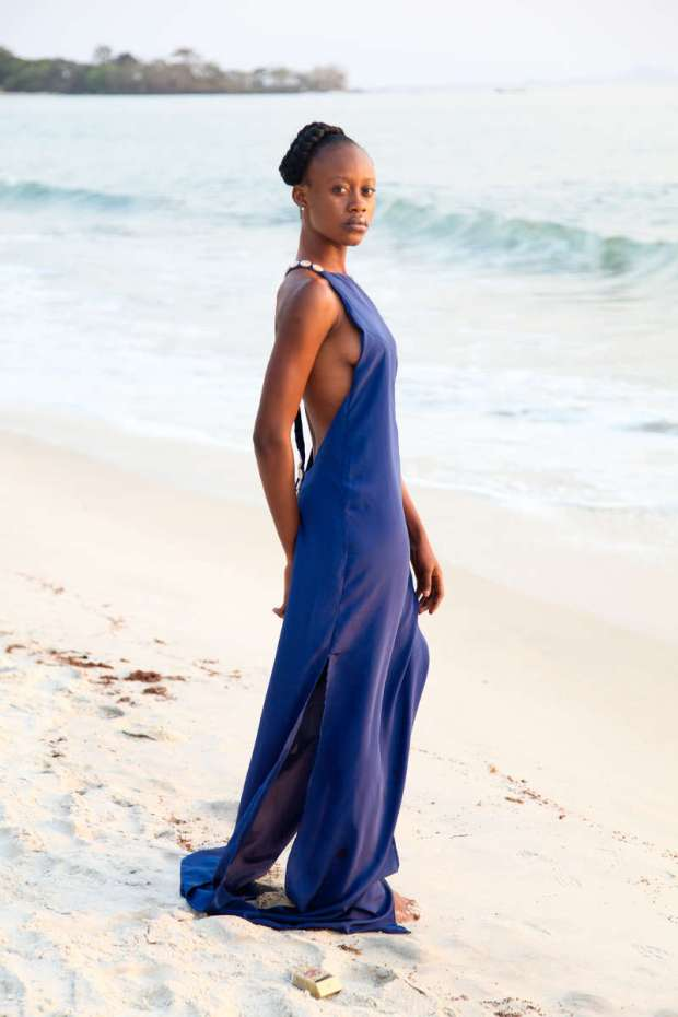 Clothing design by Kadiatu Kamara.  Image taken on Tokeh Beach, Sierra Leone (2014)