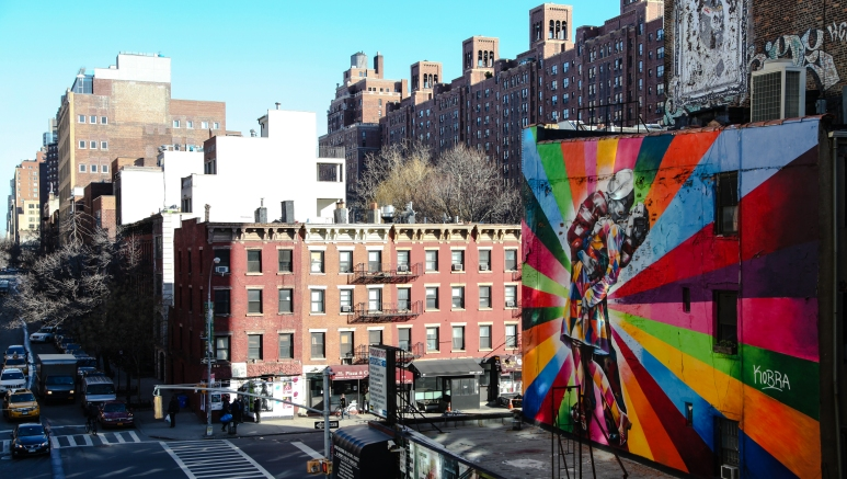 Views from the new iconic High Line walk