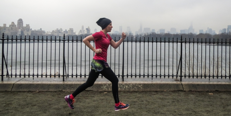 Running in central park - photo taken by my husband Stephen Cook