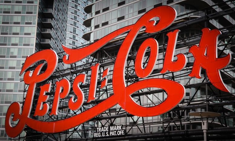 The iconic Pepsi sign in Queens