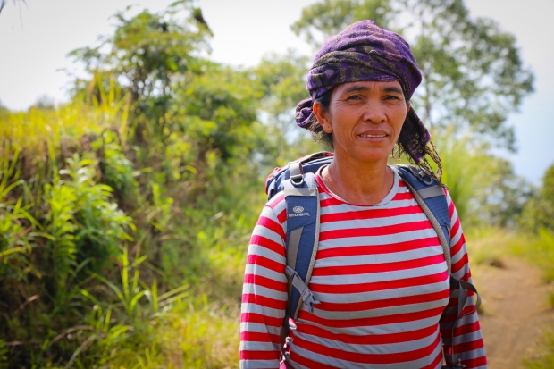 Nidi, one of the women from Muntigunung, led us on the two hour long trek to her village.