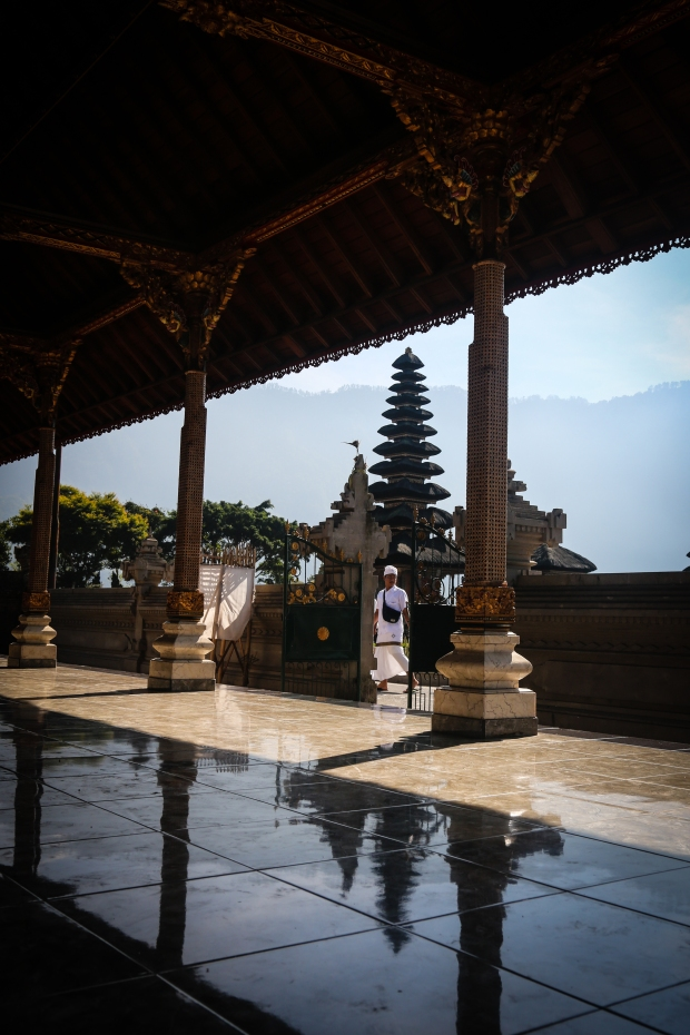 Ulun Danu Temple (also known as the Lake Temple) is one of the most photographed sites in Bali. We arrived just ahead of the crowds and without the selfie-snapping masses there was a very peaceful feel to the temple grounds.