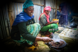 The classic Ethiopian coffee ceremony - and the coffee was lovely!