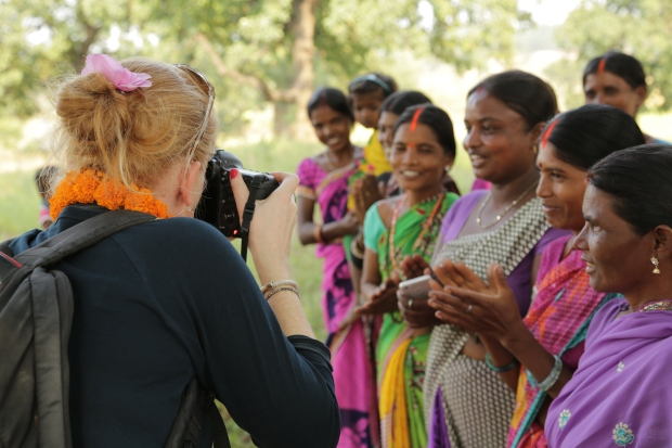 Thanks Purple Flame Media for the image: Me working in India with All We Can
